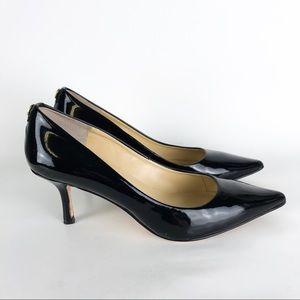 Ivanka Trump Indico Black Pointed Kitten Heel 7.5W